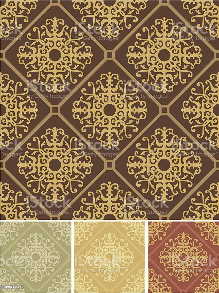 Rococo seamless pattern royalty-free stock vector art