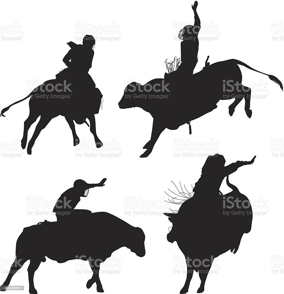 Rodeo in action royalty-free stock vector art