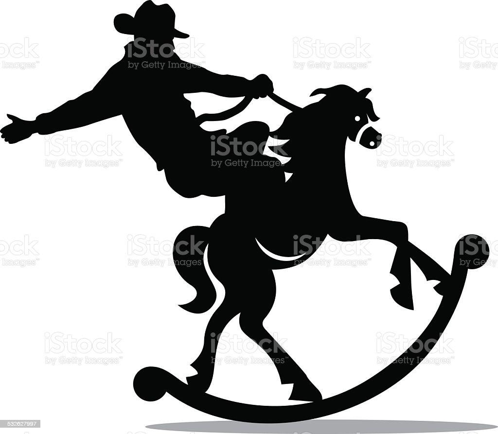 Rodeo Rocker vector art illustration