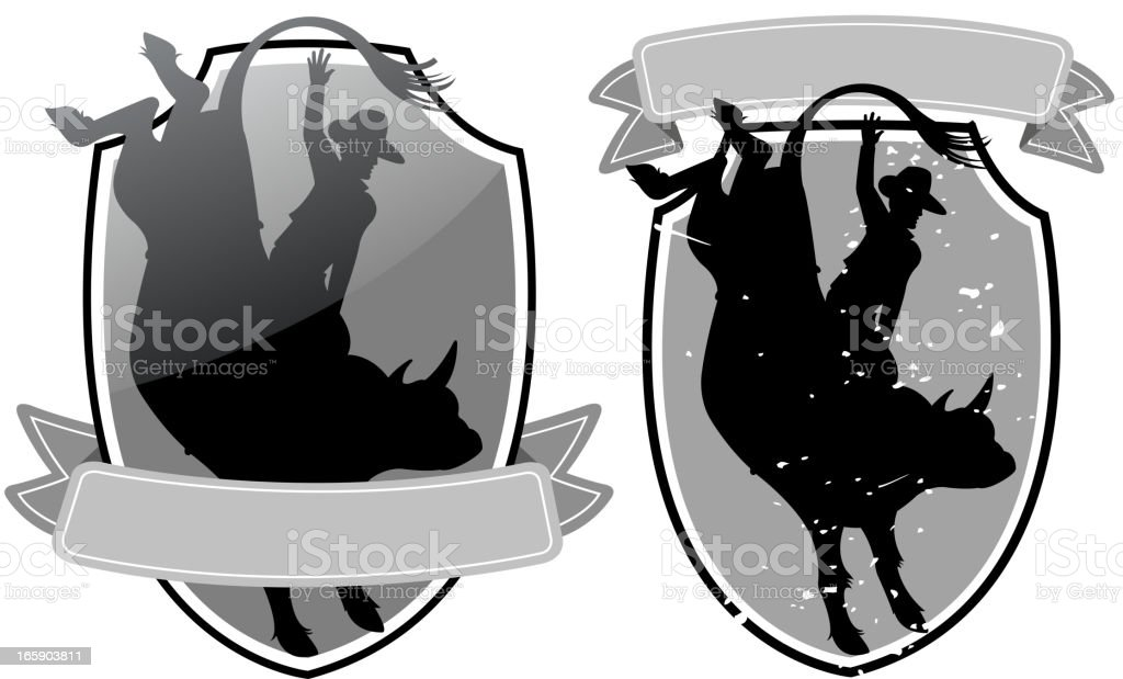 rodeo shield royalty-free stock vector art
