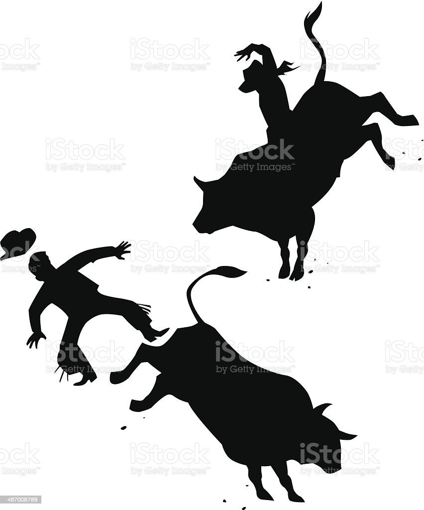 Rodeo royalty-free stock vector art