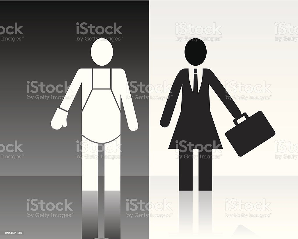 Roles. royalty-free stock vector art