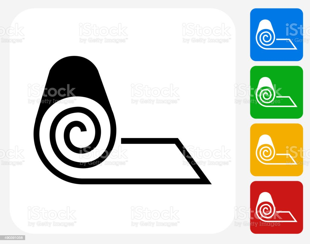 Roll of Fabric Icon Flat Graphic Design vector art illustration