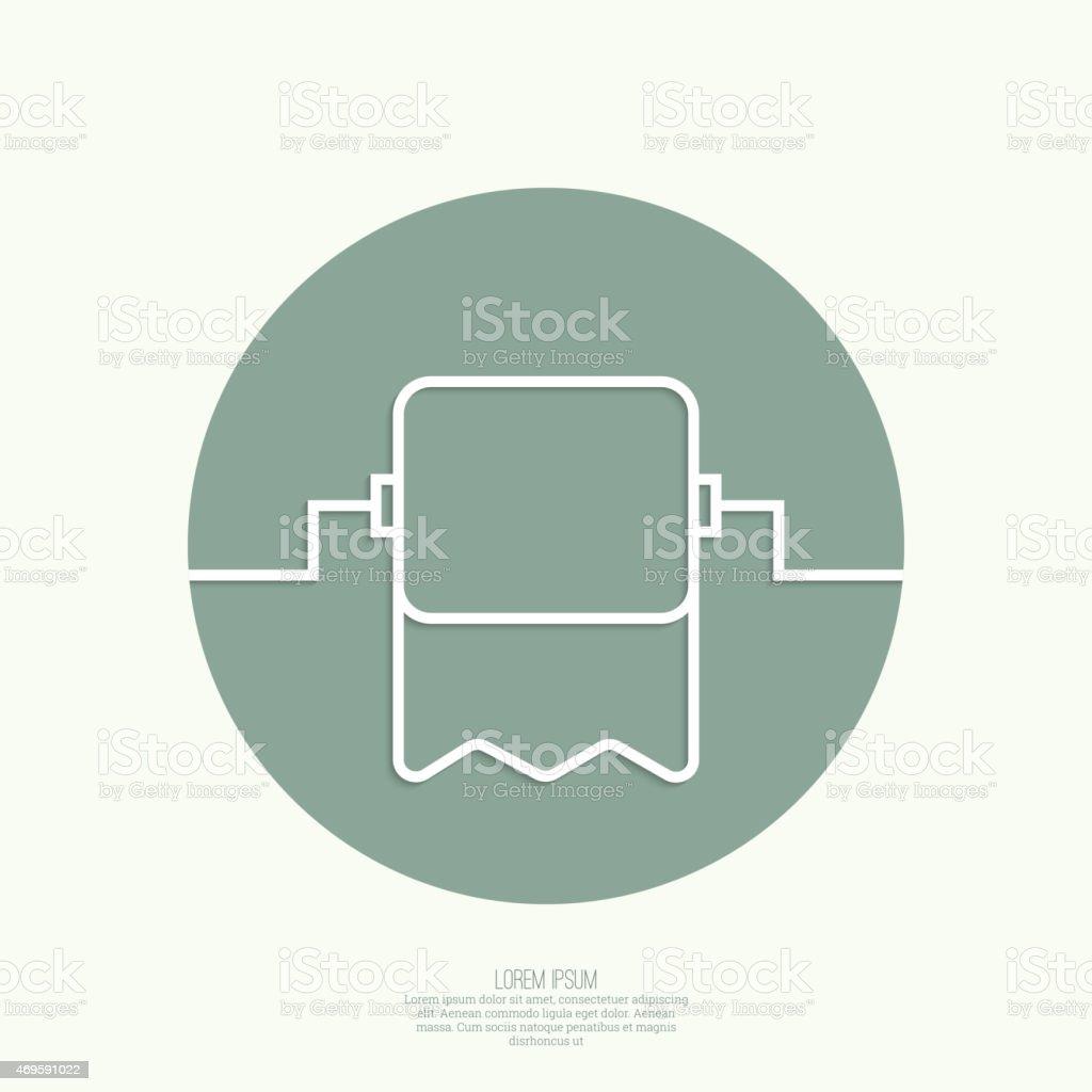 Roll of toilet paper vector art illustration