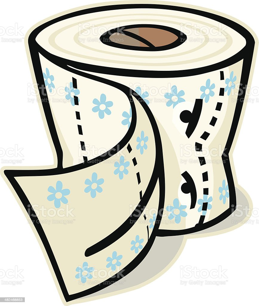 Roll of Toilet Paper royalty-free stock vector art