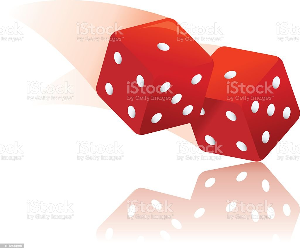 Roll the Dice vector art illustration