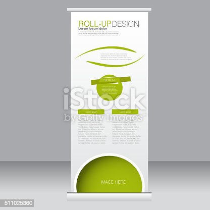 Roll Up Banner Stand Template Abstract Background stock vector art ...