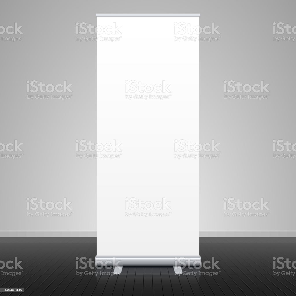 Roll up banner stand royalty-free stock vector art