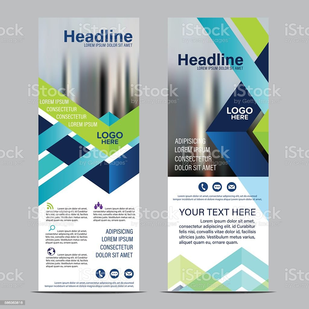 roll up layout template design flag flyer banner backdrop vector 1 credit