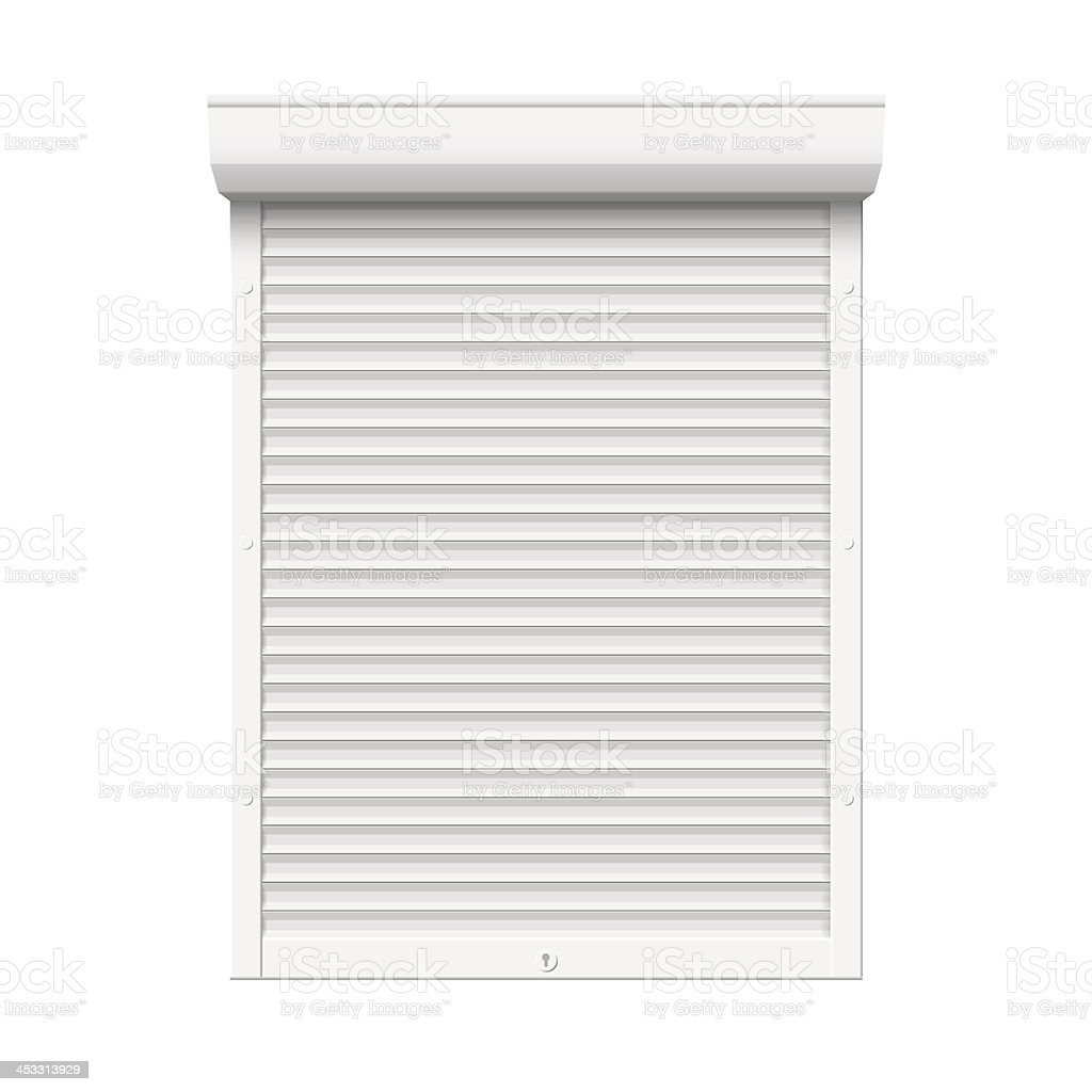 Roll up shutter. vector art illustration