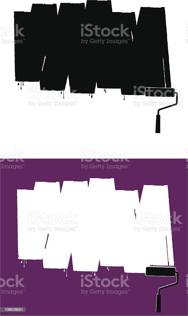 Rolled Paint royalty-free stock vector art