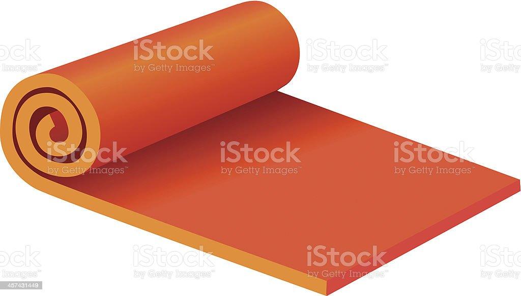 Rolled Yoga Mat vector art illustration
