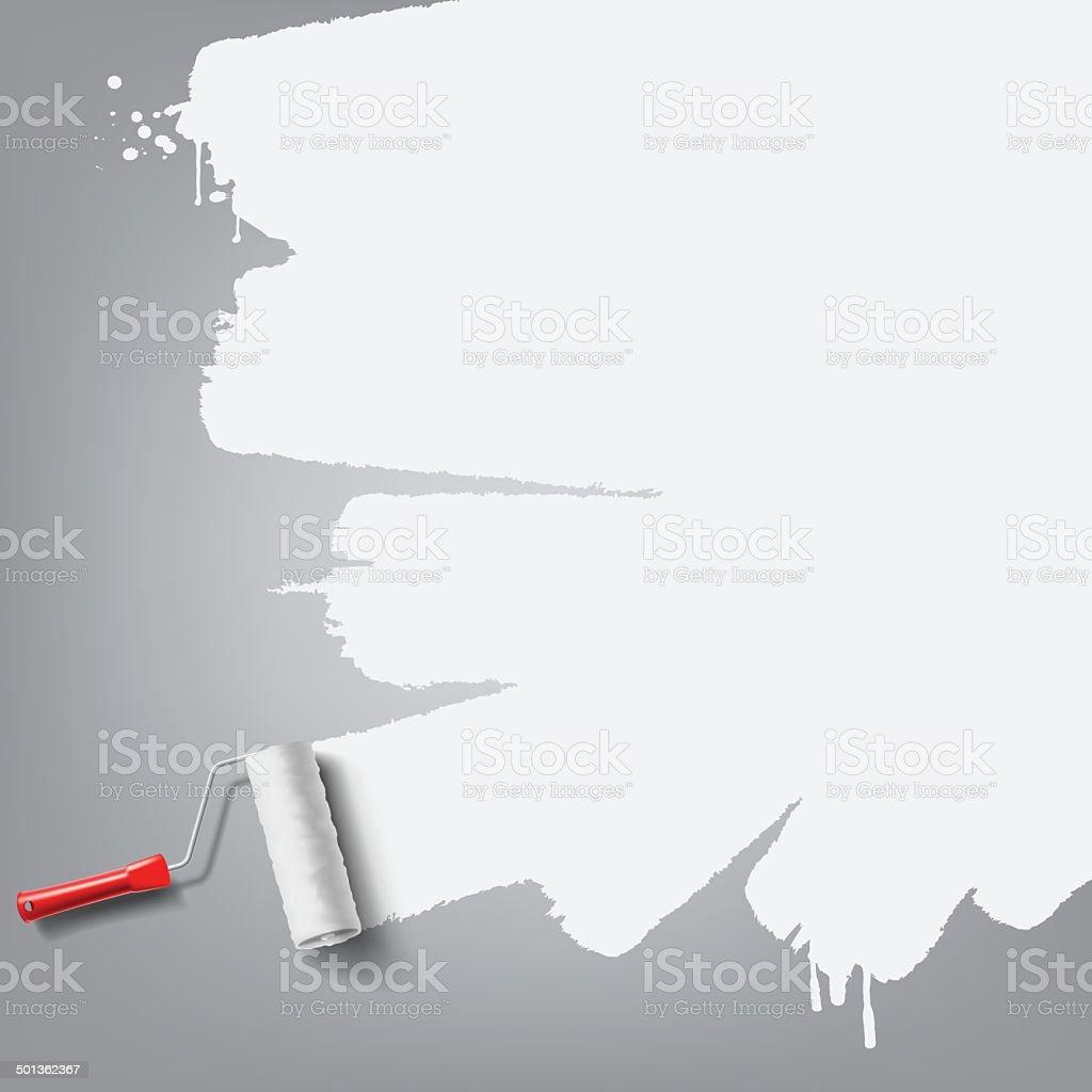 roller brush background vector art illustration