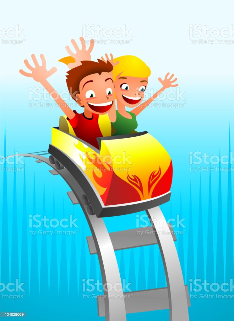 Roller coaster Game for kids royalty-free stock vector art