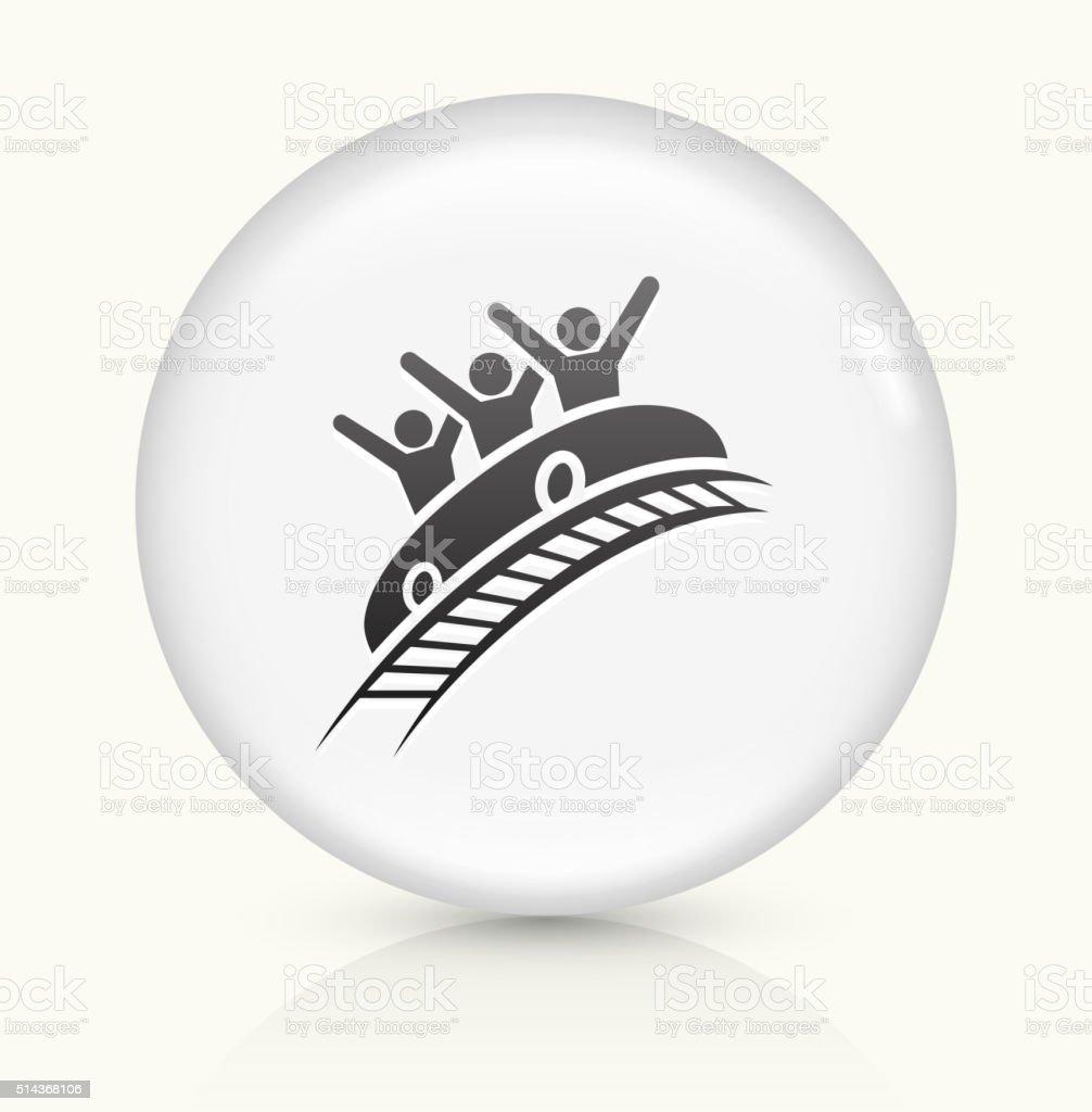 Roller Coaster icon on white round vector button vector art illustration