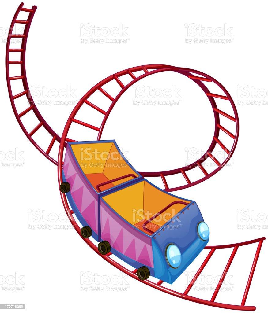 roller coaster ride vector art illustration