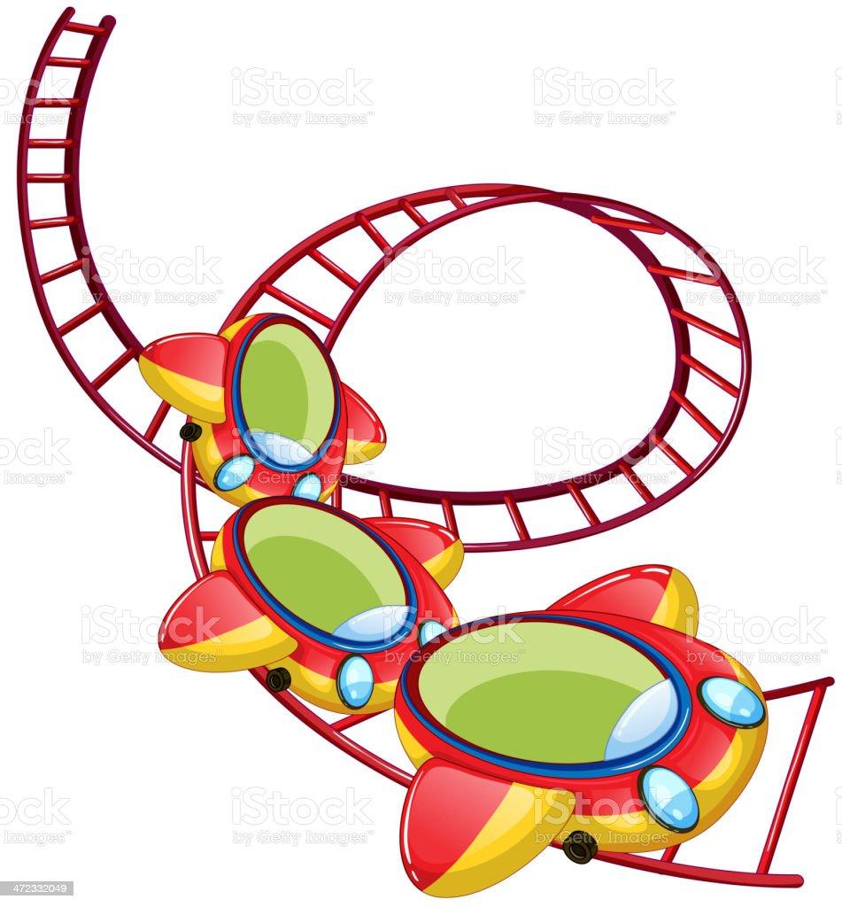 Roller coaster ride royalty-free stock vector art