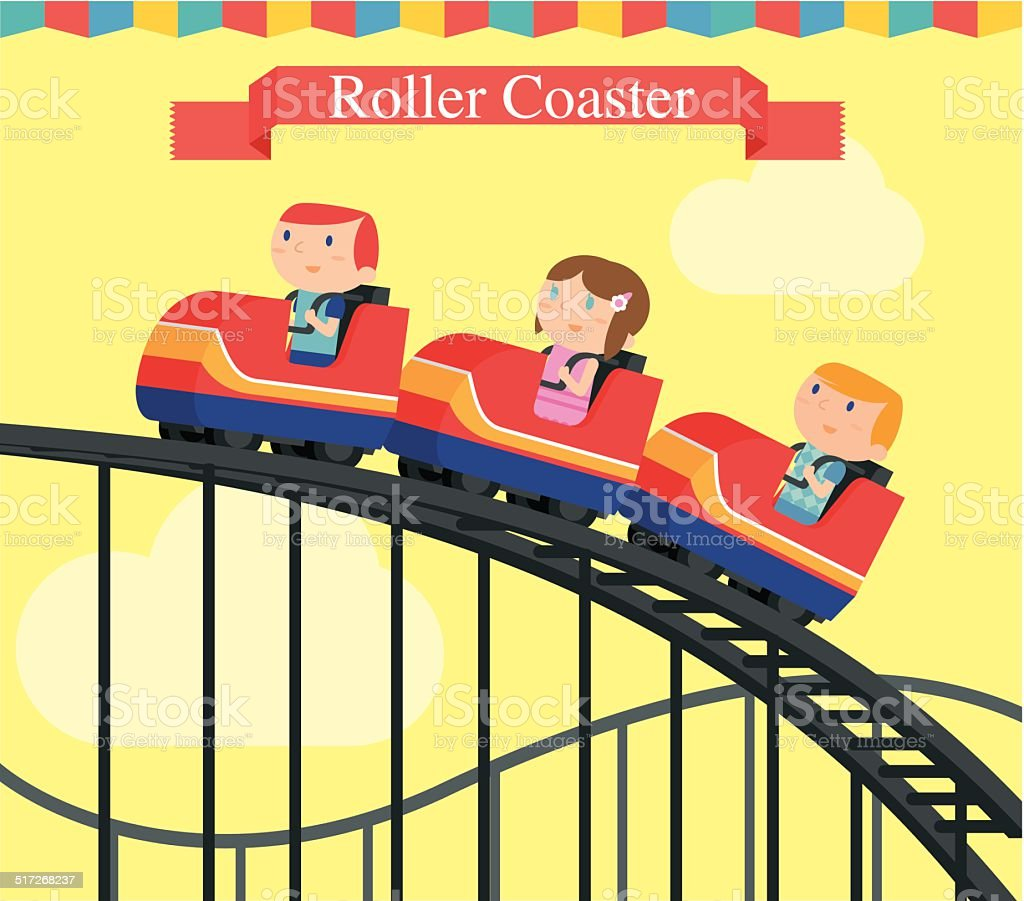 Roller Coaster vector art illustration