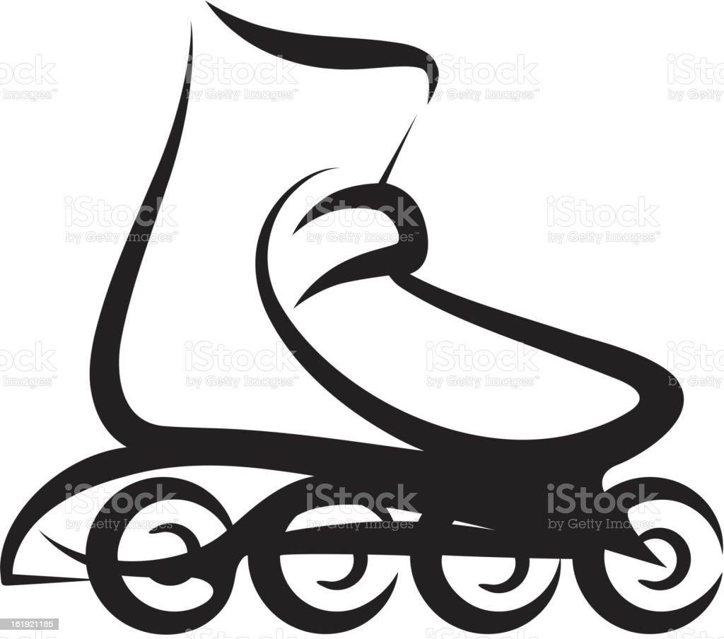 roller skate royalty-free stock vector art