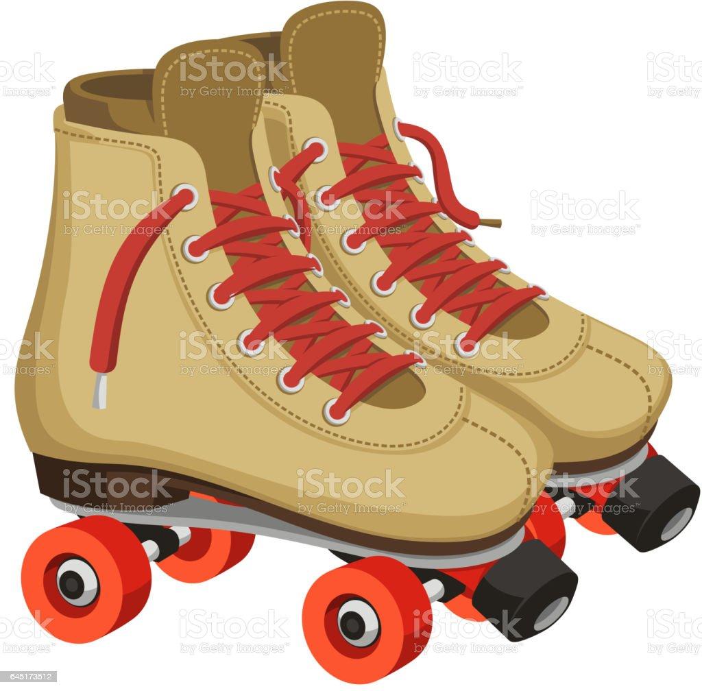 roller skates vector art illustration