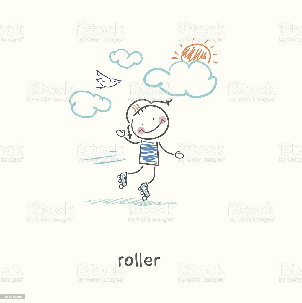Roller. royalty-free stock vector art
