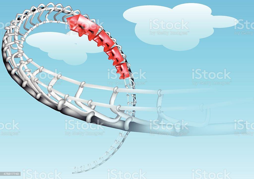 roller-coaster vector art illustration