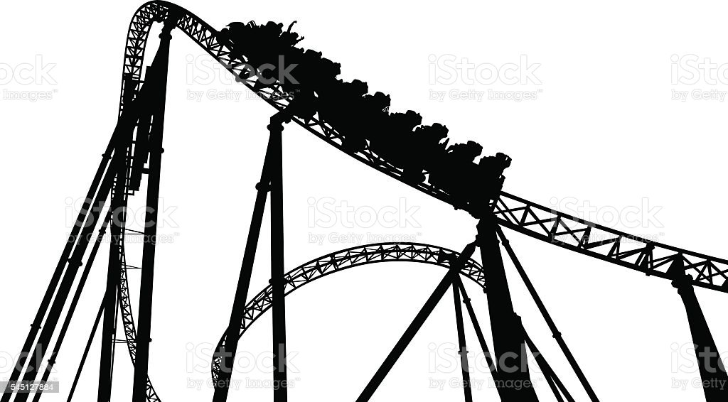 Rollercoaster vector art illustration