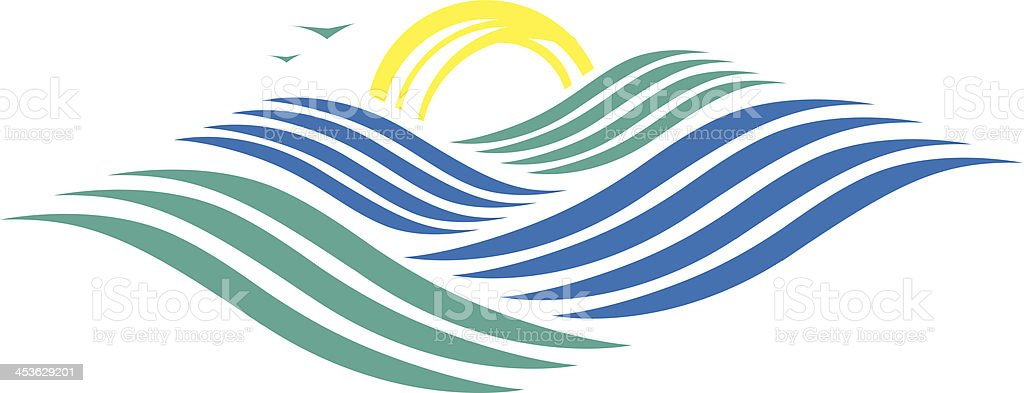 Rolling Ocean royalty-free stock vector art