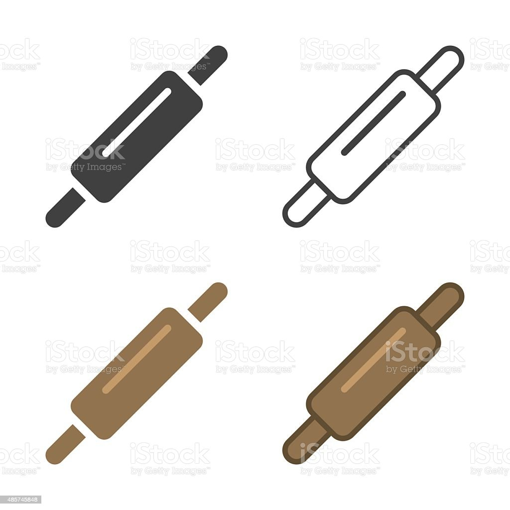 Rolling Pin Icon vector art illustration