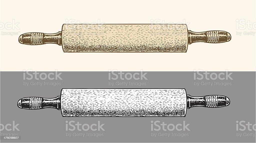 Rolling Pin vector art illustration