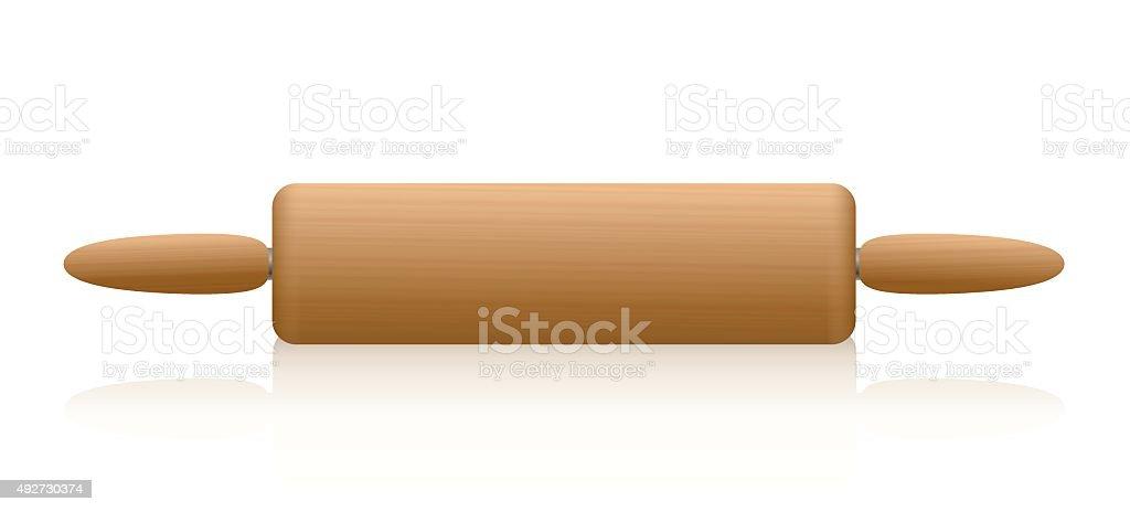 Rolling Pin Wooden Texture vector art illustration