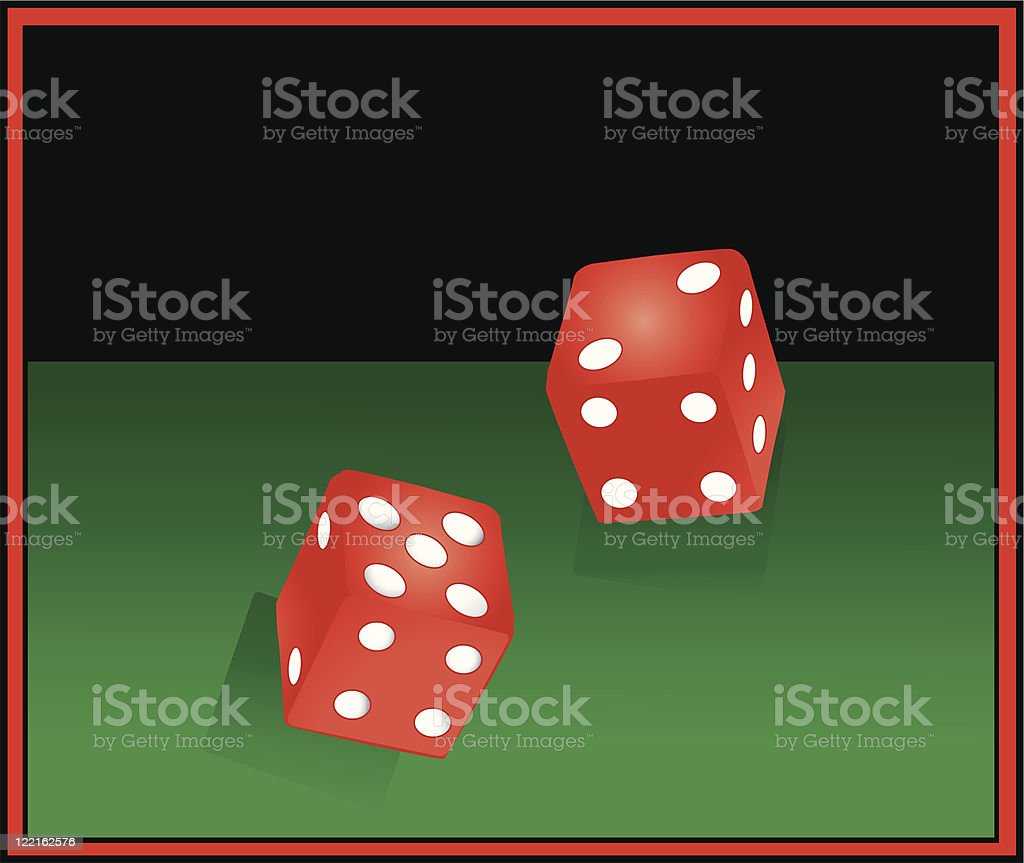 Rolling Dice vector art illustration
