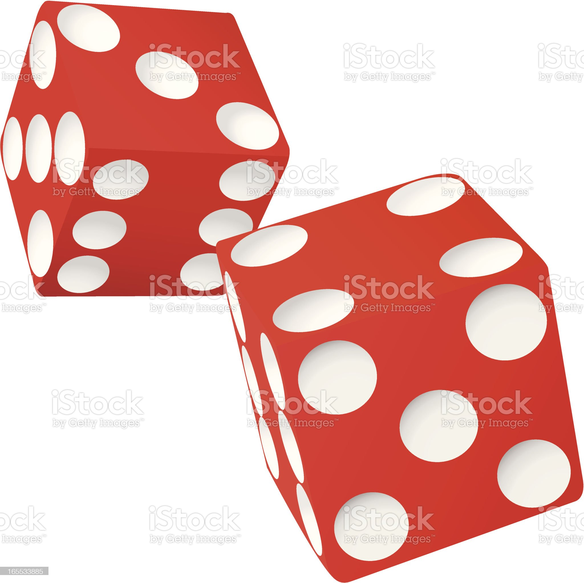 Rolling Dice royalty-free stock vector art