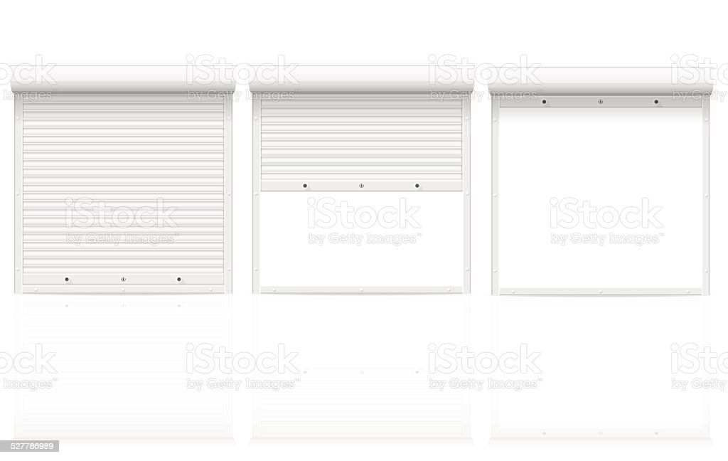 ... Rolling Shutters Vector Illustration Vector Art Illustration ...