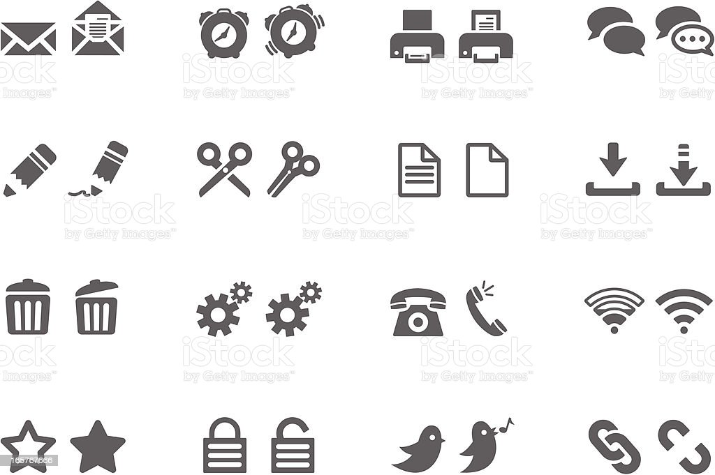 Rollover Web Symbols vector art illustration
