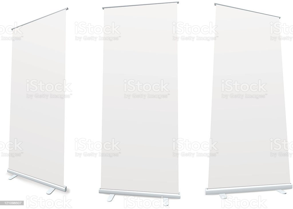 Roll-up blank white display royalty-free stock vector art
