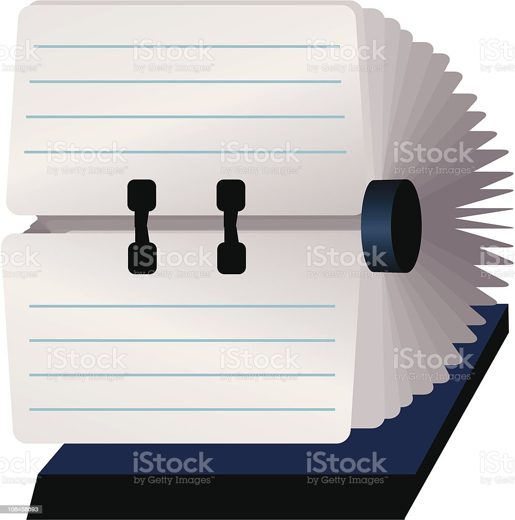 Rolodex with blank cards royalty-free stock vector art