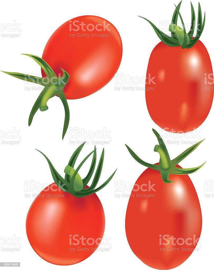 Roma Tomatoes royalty-free stock vector art