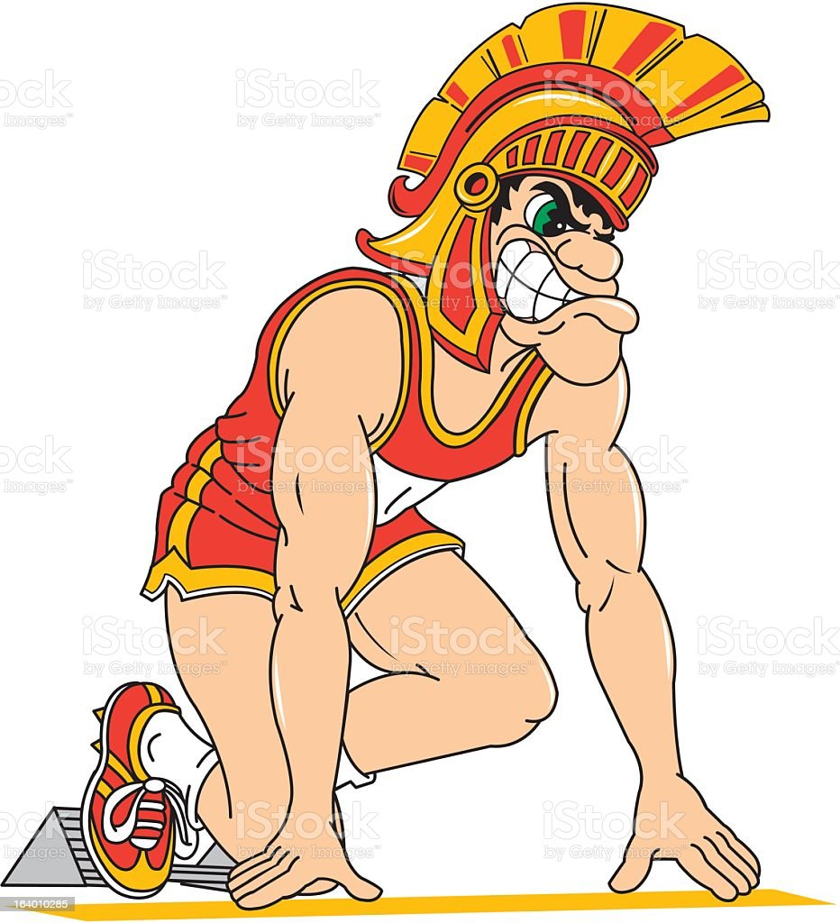 Roman Athlete royalty-free stock vector art
