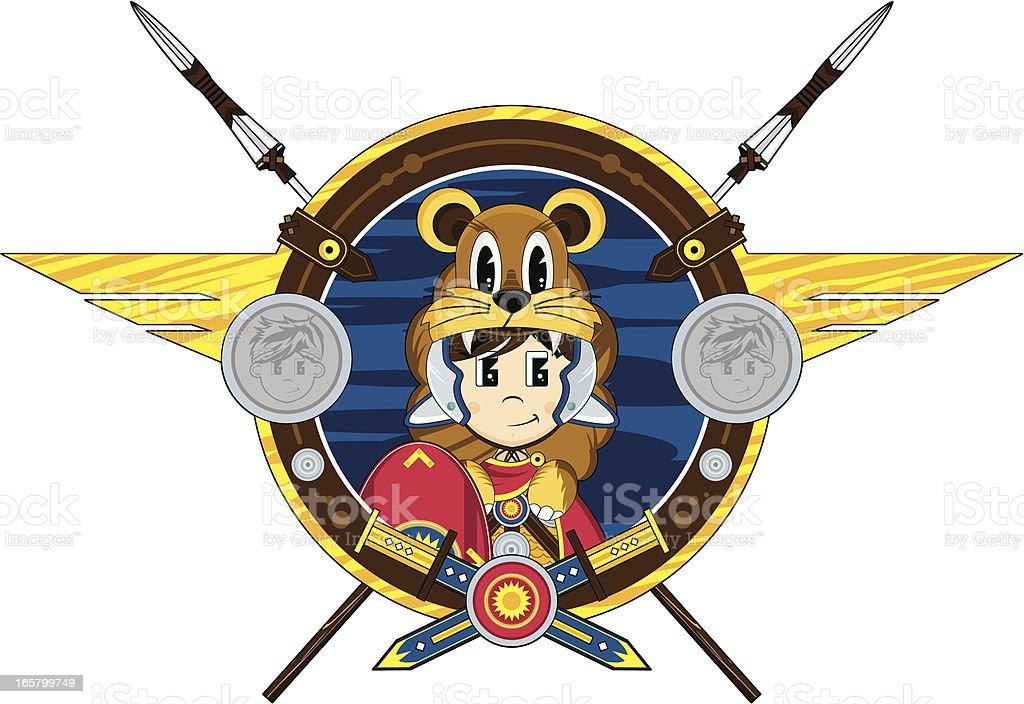 Roman Centurion Badge royalty-free stock vector art