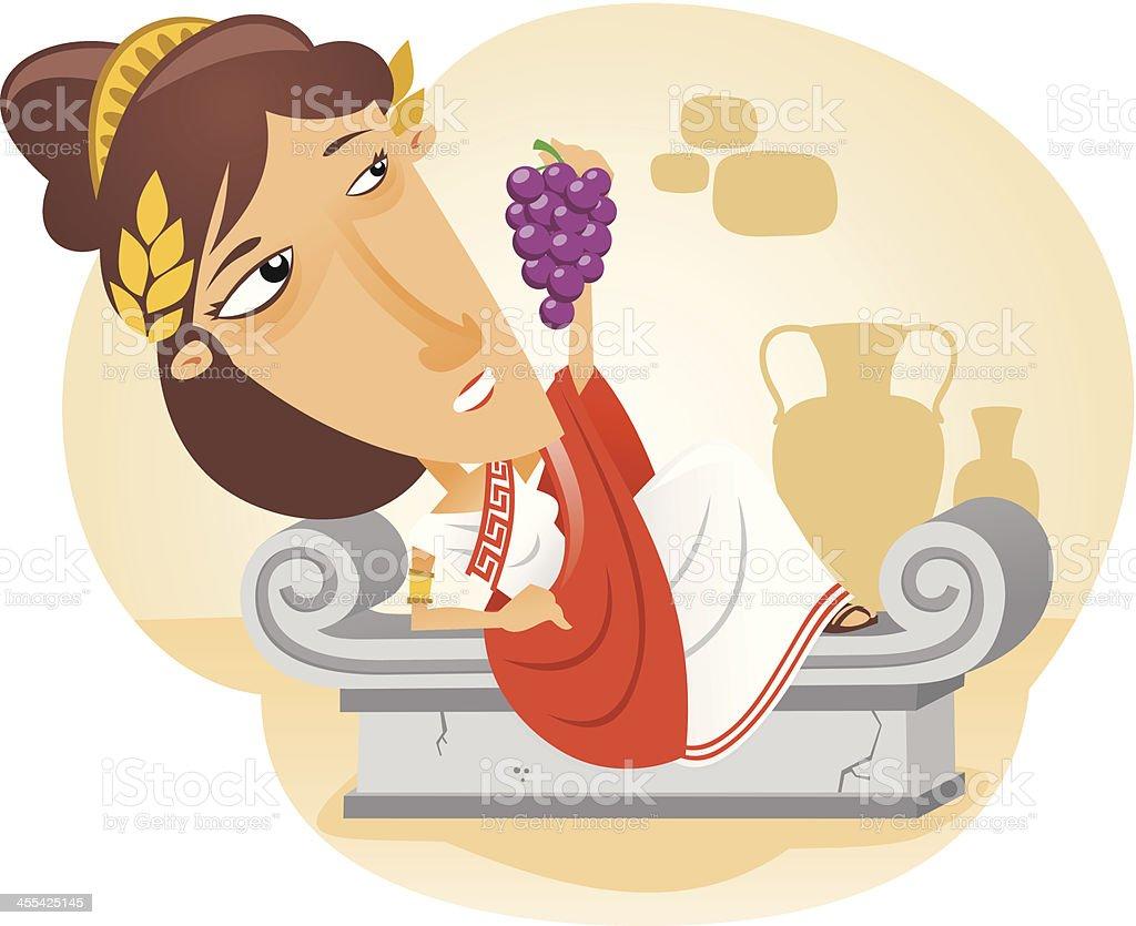 Roman citizen vector art illustration
