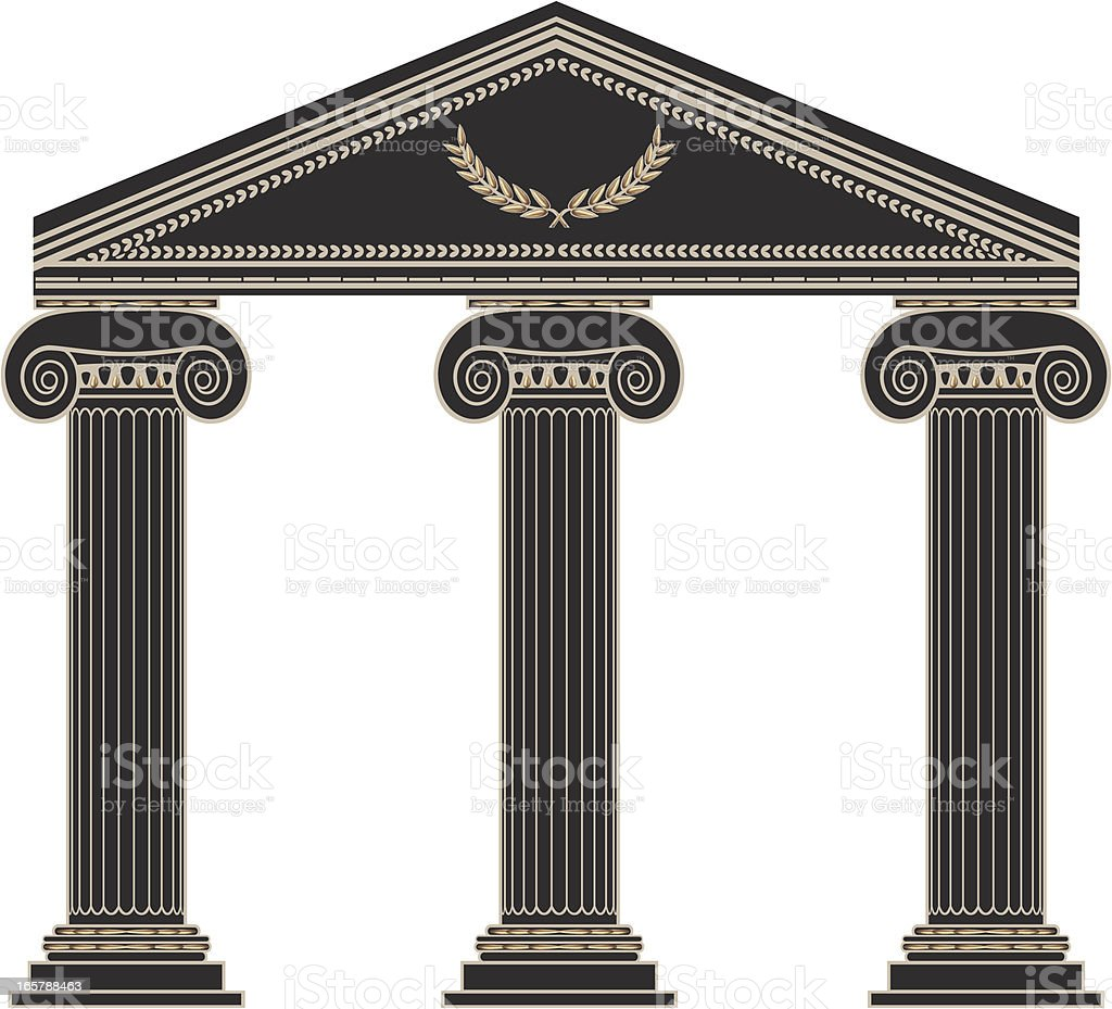 Roman Columns vector art illustration