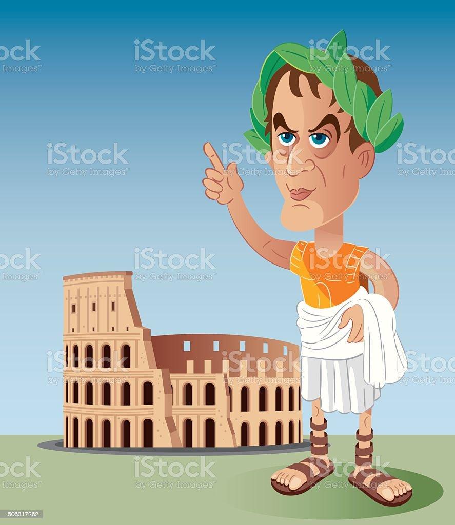 Roman emperor vector art illustration