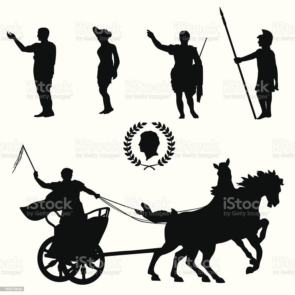 Roman Empire Vector Silhouette vector art illustration