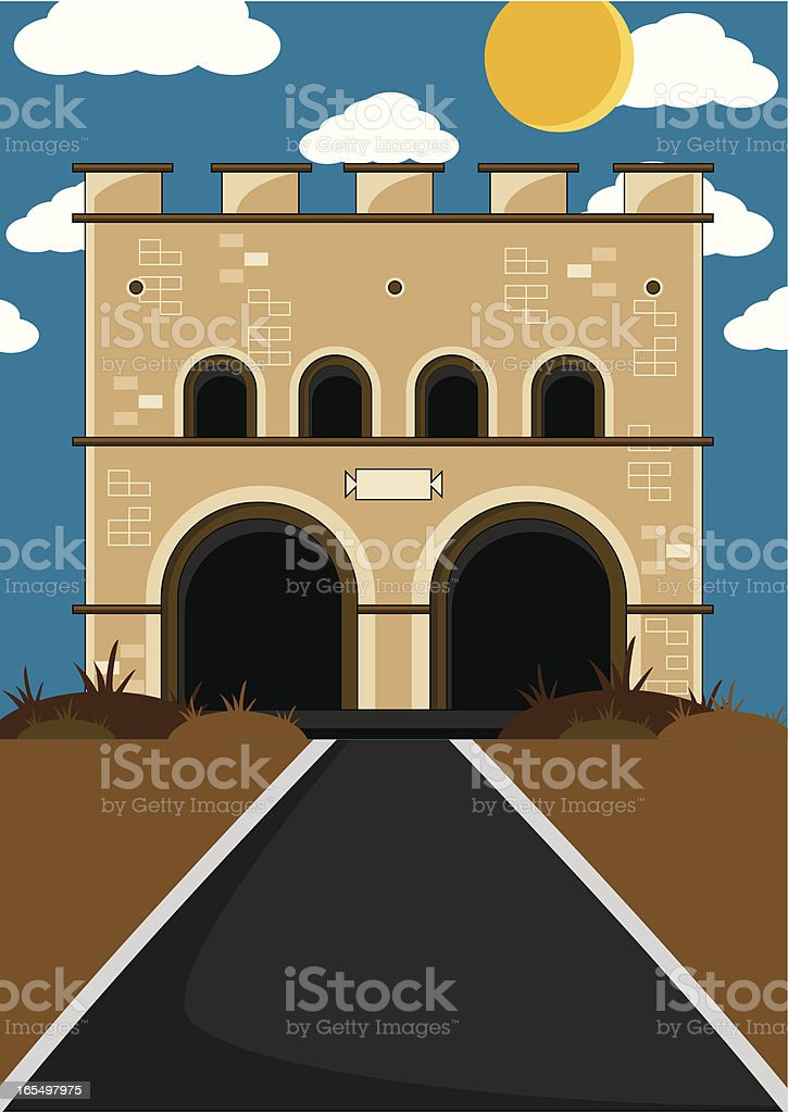 Roman Fort Background royalty-free stock vector art