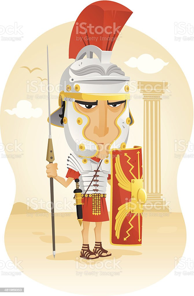 Roman soldier royalty-free stock vector art