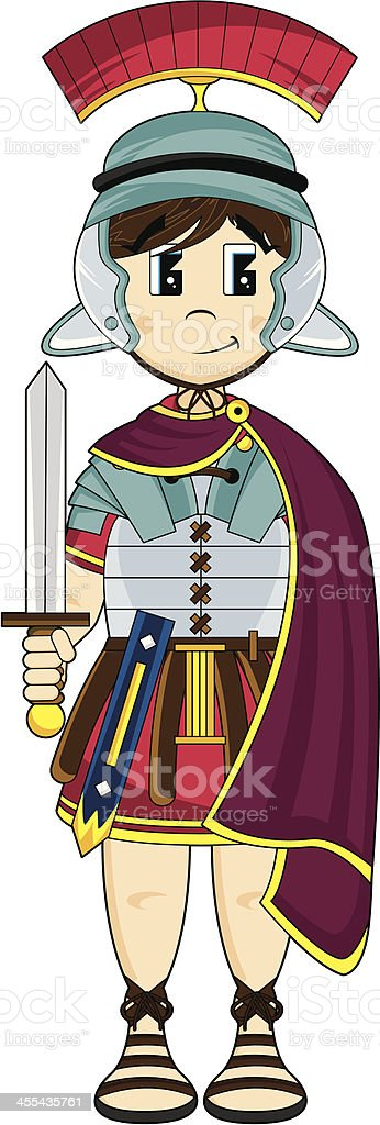 Roman Soldier with Sword royalty-free stock vector art