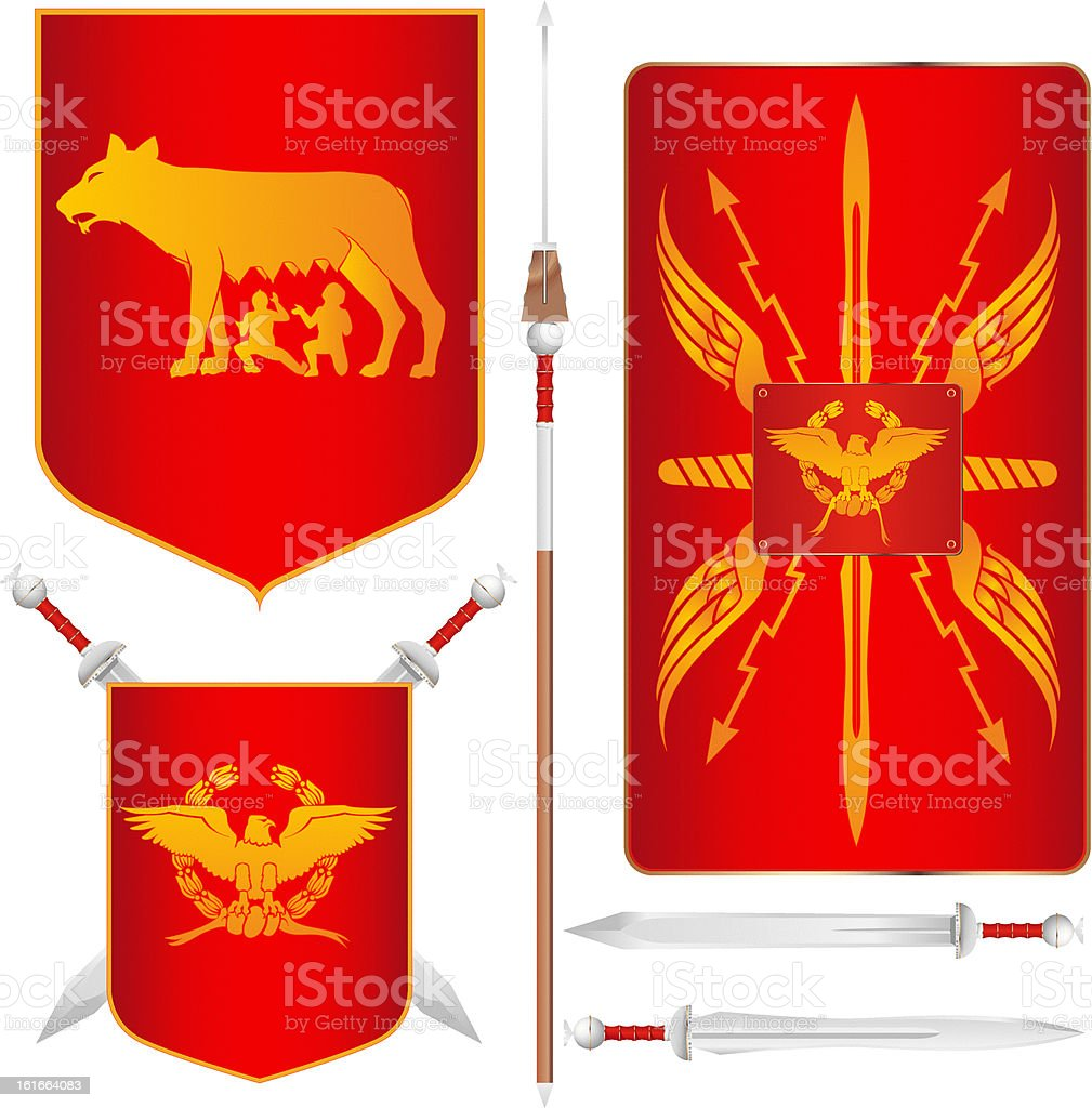 Roman Symbols royalty-free stock vector art