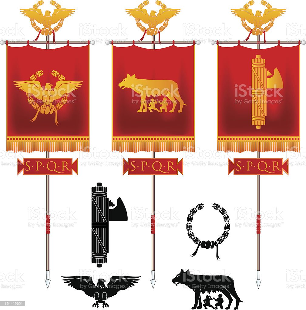 Roman Symbols vector art illustration