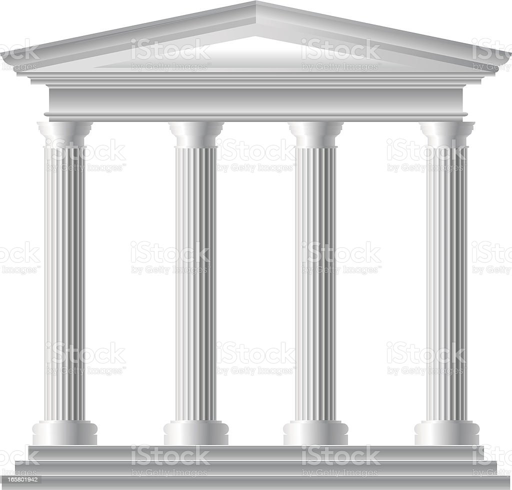 Roman Temple vector art illustration